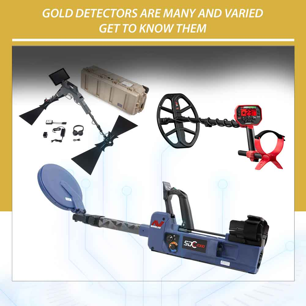 Gold detectors are many and varied..get to know them
