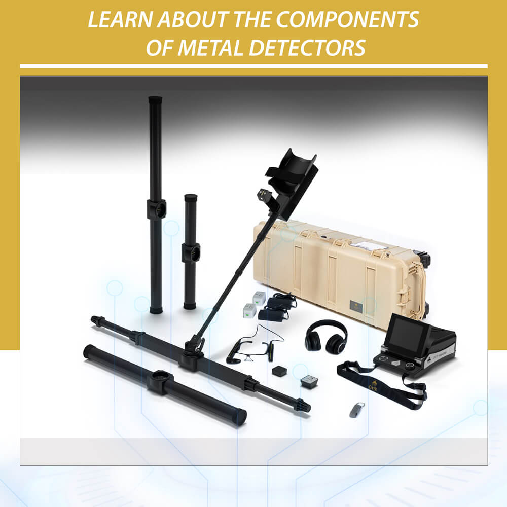 Learn about the components of metal detectors